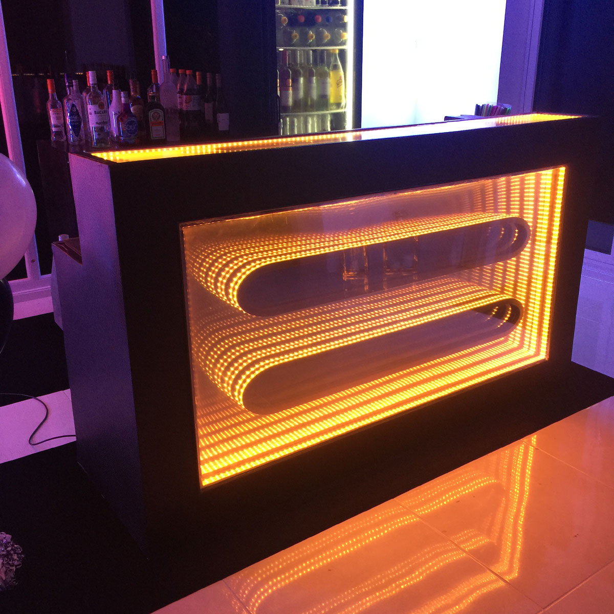 Mobile LED Infinity Bar Hire