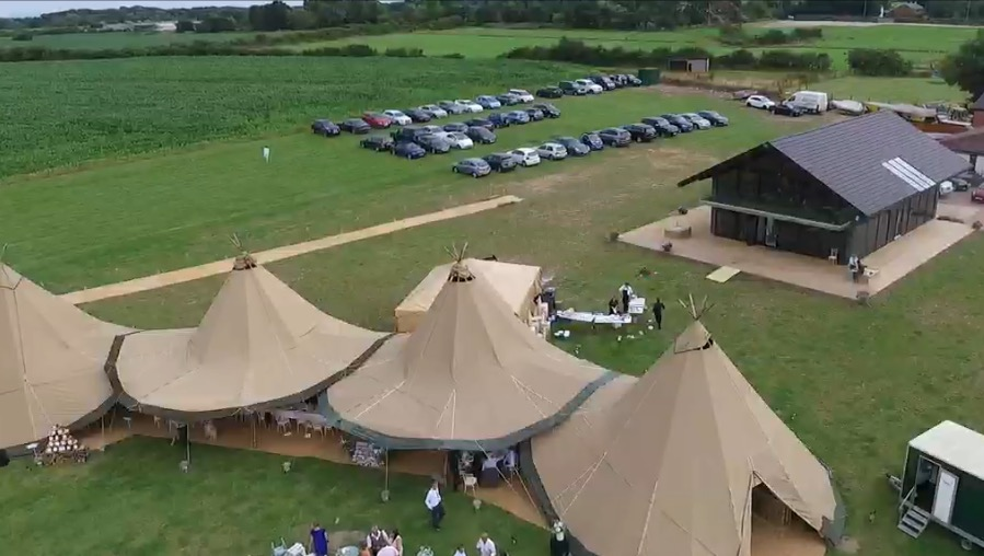 Tipi wedding caterers