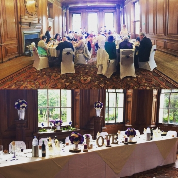 Wedding at Catering Croxteth Hall table and room