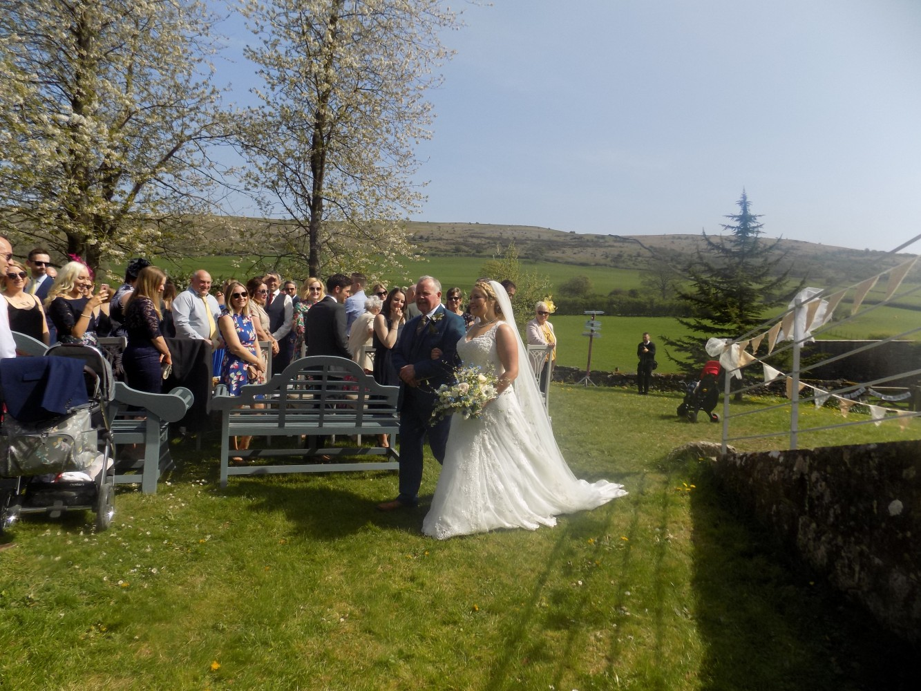 Longlands Cartmel outside wedding Caterers and mobile bar service