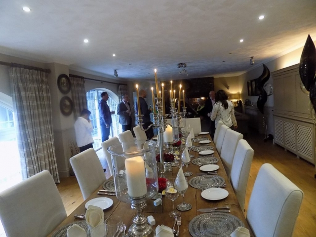 Dinner party catering Hambelton Over Wyre
