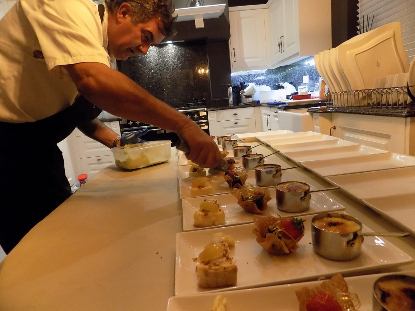 Preparing dessert | Private dinner party catering