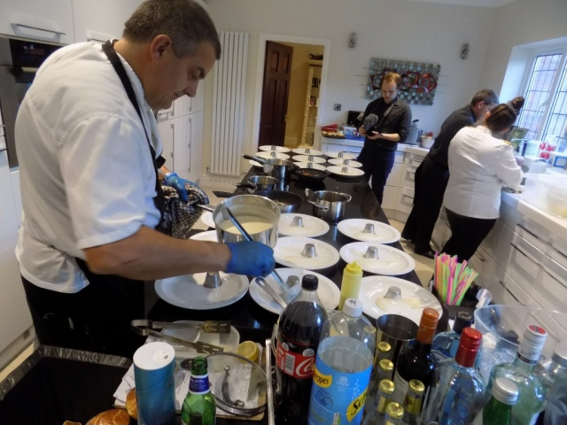 Chef in your kitchen outside catering cheshire