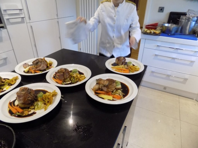 dinner party catering wilmslow with a chef in your kitchen